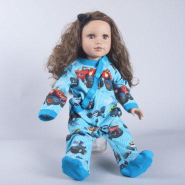 0d4889763274dd Puppen Pyjama Einteiler